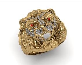 gem lion ring 3D print model