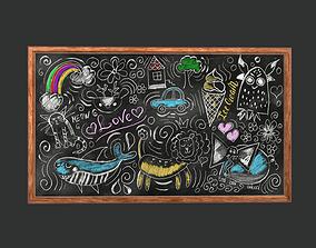 3D model Funny Chalkboard Game Ready