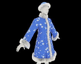 3D model Fur coat for the Snow Maiden