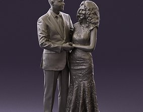Man and woman hugs and smiling 0807 3D Print Ready