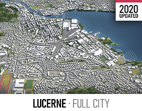 Lucerne - city and surroundings 3D model