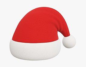Christmas Santa Claus hat 01 3D