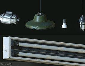 Old Lamps 3D asset