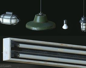 Old Lamps 3D model