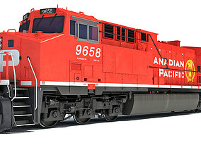 3D model Canadian Pacific Locomotive