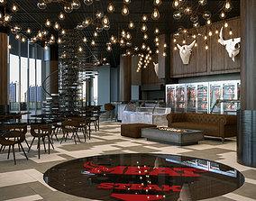 Restaurant Cafe Bar Interior 3D model