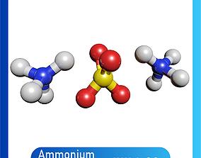 Ammonium sulfate 3D Model NH4 2SO4