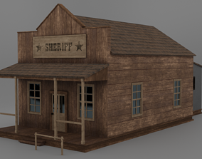 3D asset Western Sheriff Office and Jail