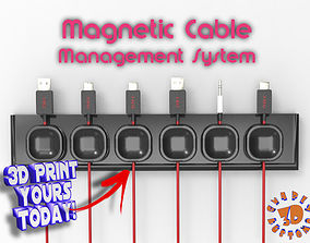 Magnetic Cable Management System 3D print model