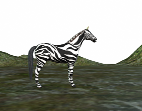 Zebra 3d Fully Rigged animated