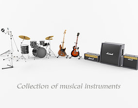 Collection of Musical Instruments 3D model