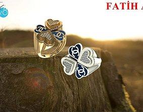 ring jewelry design 3D printable model