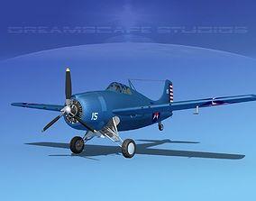 3D model Grumman F4F-3 Wildcat V01