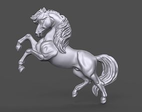 Horse bas relief 3D printable model