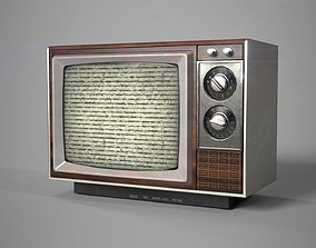 3D asset game-ready Retro- Vintage TV Type B