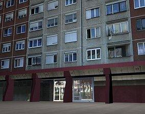 3D asset Panel Plattenbau Block Building Architectural 1