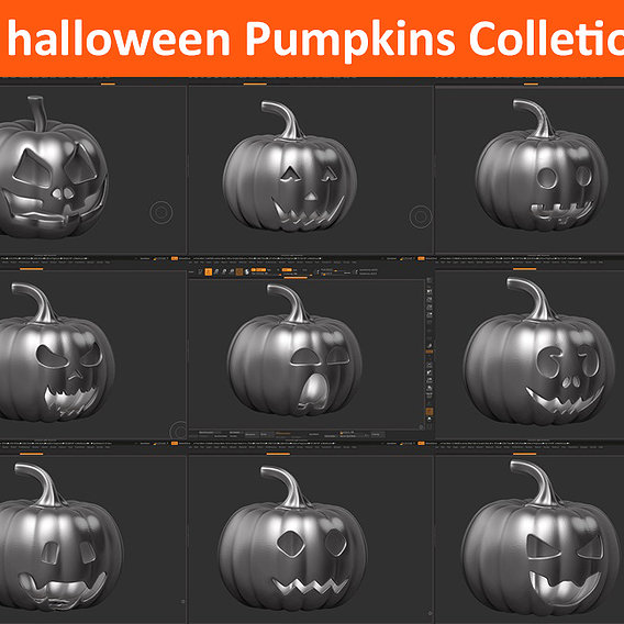 9 halloween pumpkin Mega Pack Collection
