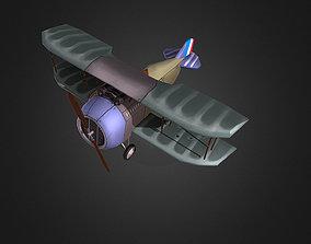 WW1 Stylised plane 3D model
