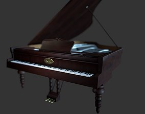 3D asset game-ready Piano