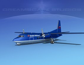 3D model Fokker F-27 British Midland