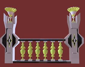 Architectural Balustrade - Palace Decor Baroque - 3D model