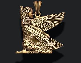Isis pendant 3D print model ancient