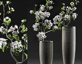 3D tree Flower Vase Set