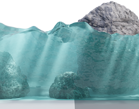 Realistic caustics material 3D asset animated