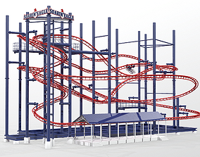 3D model Soarin Eagle Roller Coaster