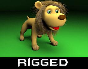 3D model Cartoon rigged Lion