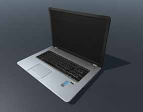 HP Notebook Low poly 3D model