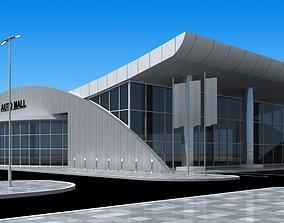 3D model AUTO MALL exterior and interior updated
