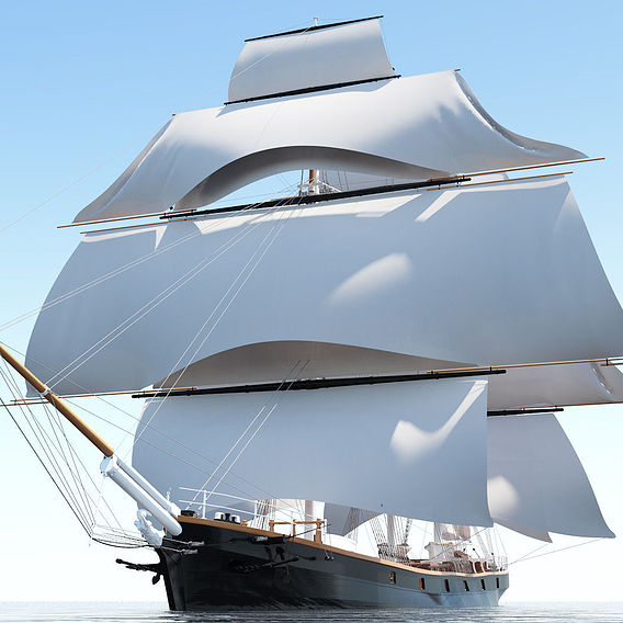 Cutty Sark - 3D model of the 1869 British clipper ship