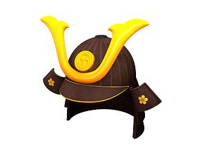 hat Samurai Helmet 3D model