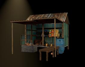 Tea shop South asia 3D