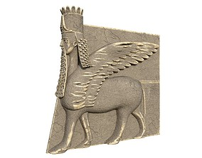3D ancient Winged Bull