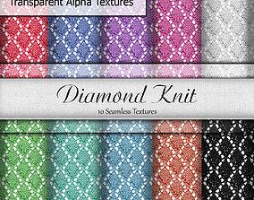 Diamond Knit Fabrics Seamless Textures Set 3D model