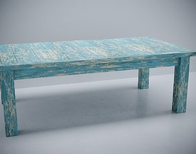 3D wood aged table