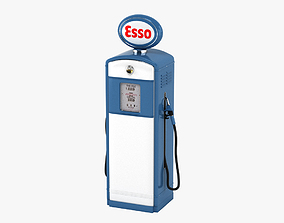 3D model Esso Gaspump