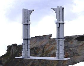 Greek 3 Tiered Pillar 3D