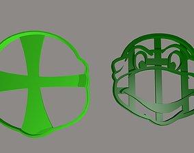 3D printable model Ninja Turtle Head Cookie Cutter Set