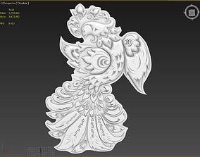 3D model Bird Suitable for embossing Hot Foil Technique