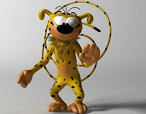 Marsupilami Character RIGGED 3D asset