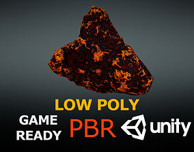3D asset game-ready meteoroid Asteroid