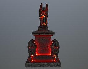 statue 4 fire 3D asset VR / AR ready
