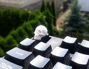 Skull Keycap STL for Cherry MX laptop 3D print model