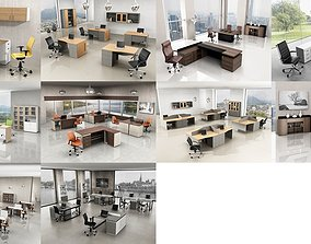 3D 10 Office Interior Pack Collection