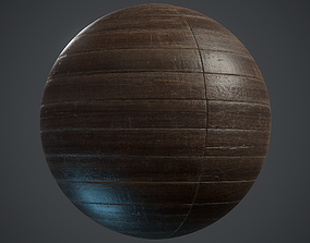 Old stackbond Parquet - PBR textures 3D model