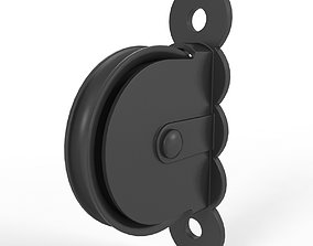 3D Cast iron wall mounted pulley