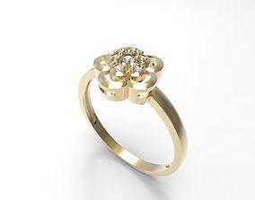 3D printable model Ring Flower of luck STL